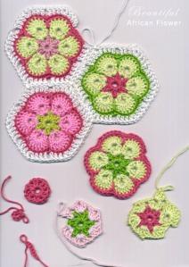 african flower hexagon crochet